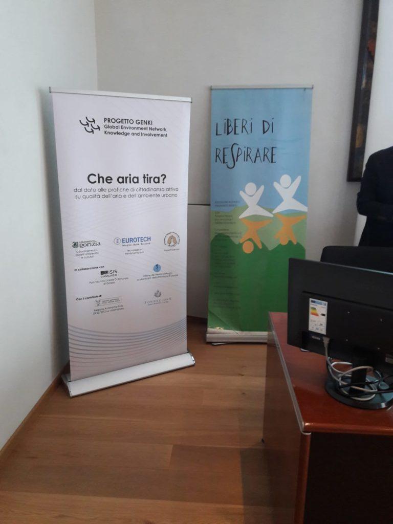 1. Il banner ALPI al convegno finale