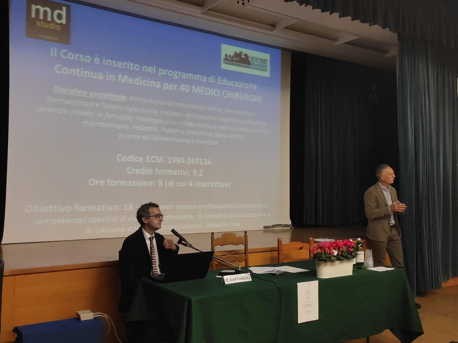 L'esperto professor Caffarelli dell'universita' di Parma