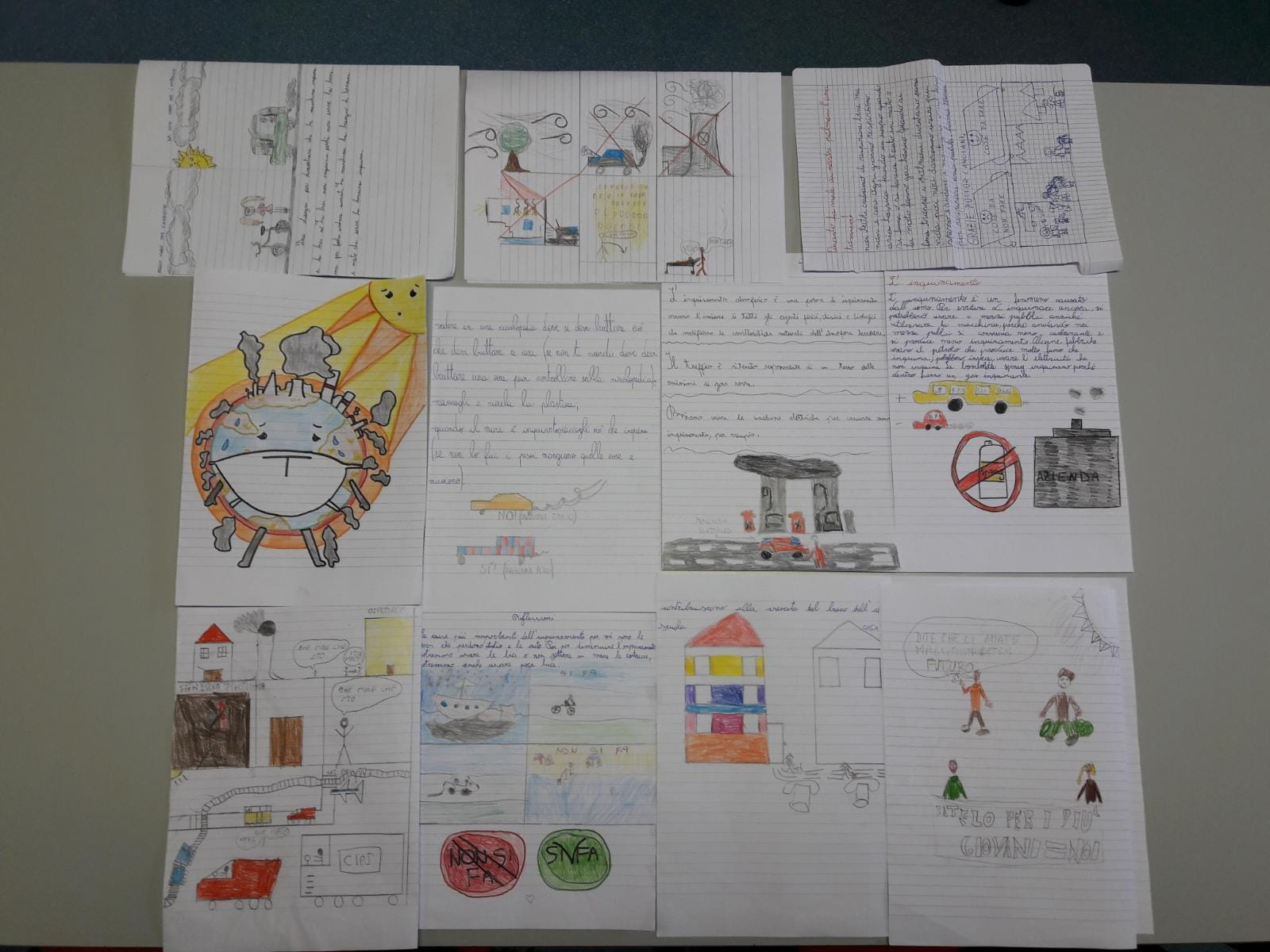 Una selezione dei temi e dei disegni