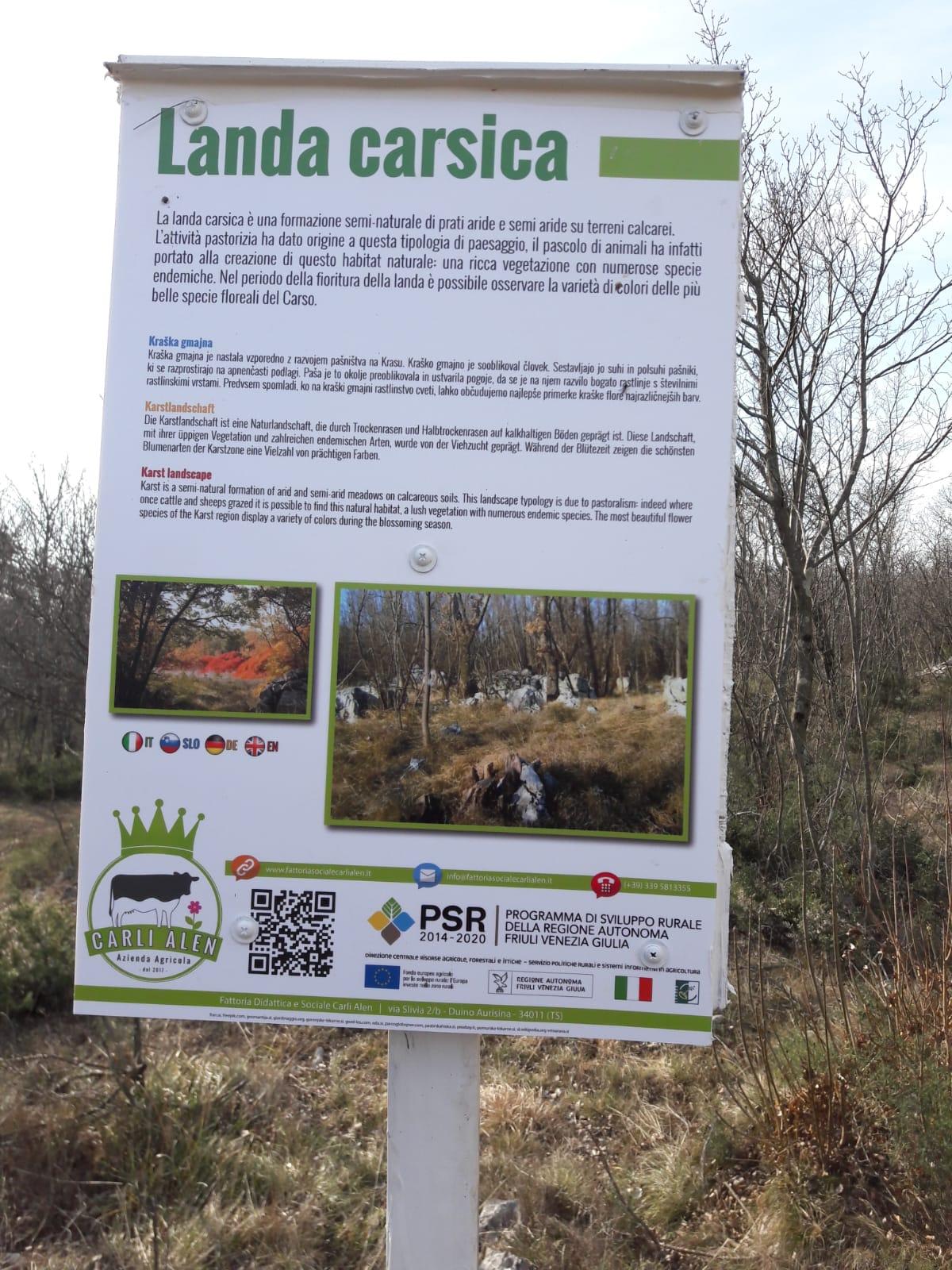 I cartelli plurilingue della fattoria didattica Carli-Kralj