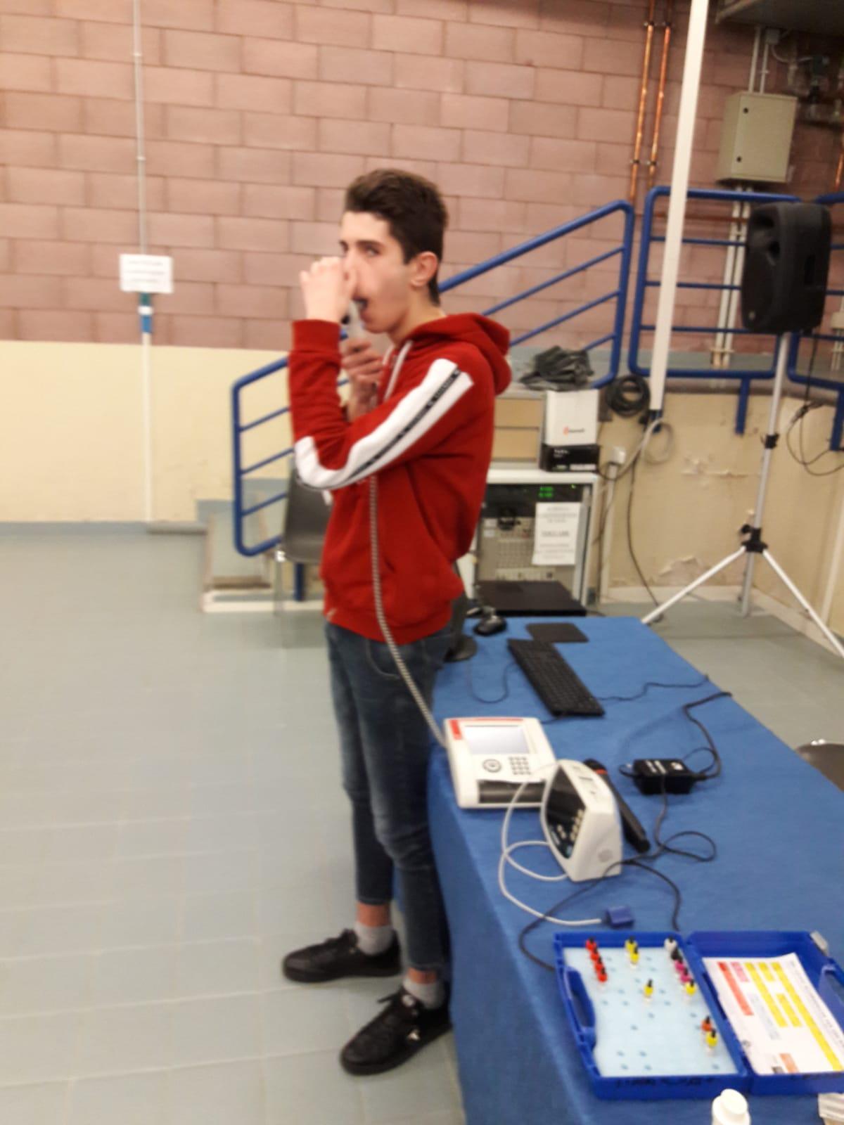 Dimostrazione sulla corretta esecuzione della spirometria