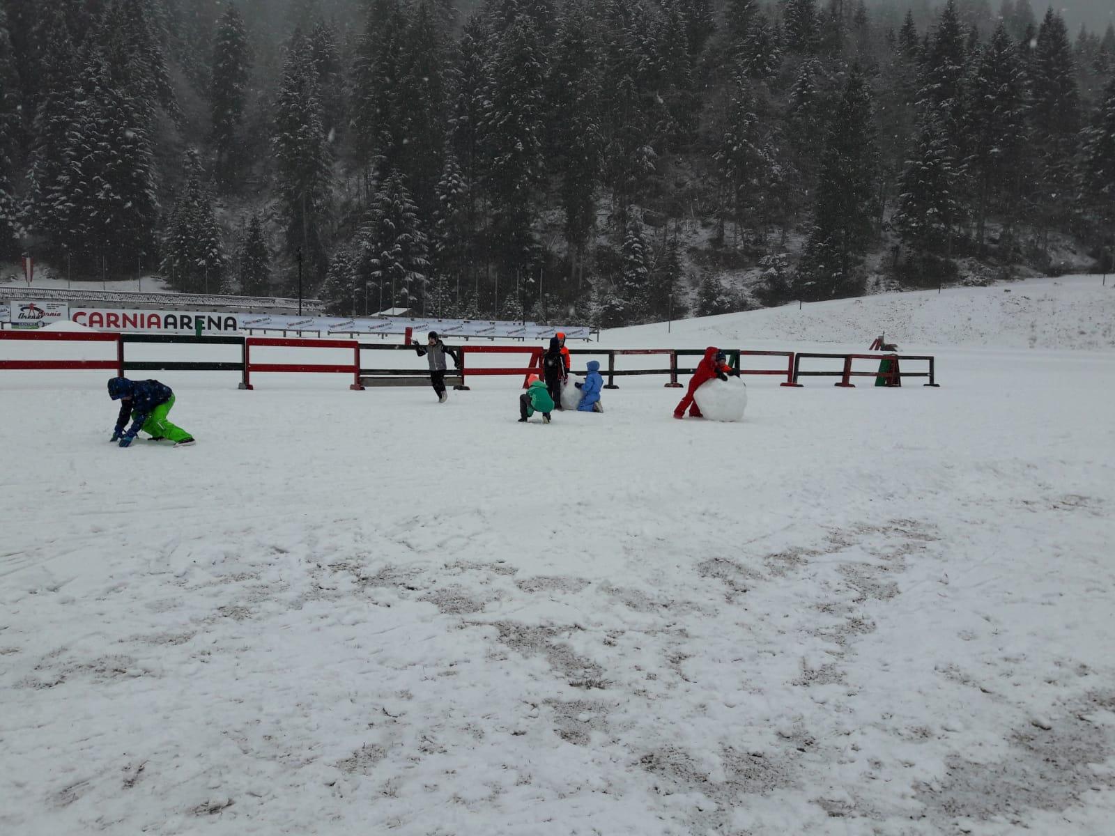 Giochi finali con la neve