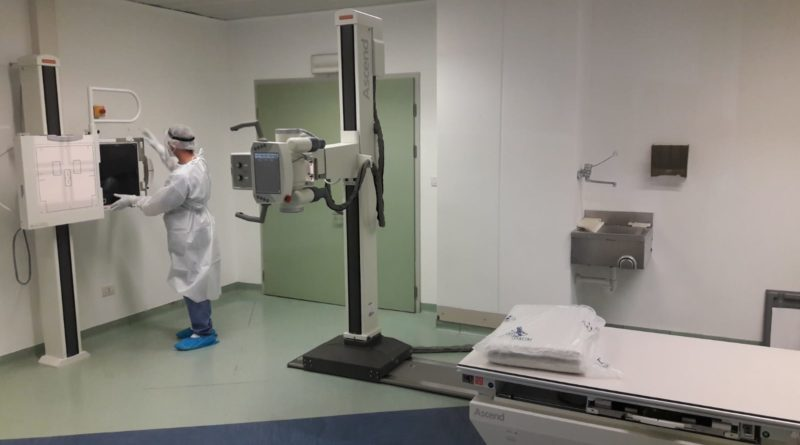 L'interno della stazione Carestream con il nuovo apparecchio