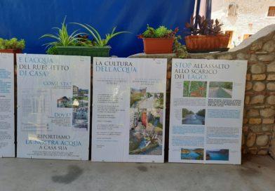 Alcuni pannelli della mostra
